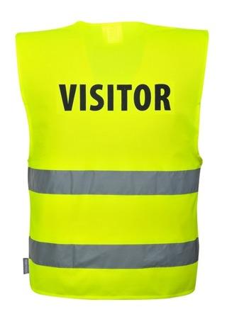 Kamizelka odblaskowa z napisem VISITOR C405 Portwest