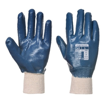 Rękawice robocze powlekane nitrylem ze ściągaczem A300 Portwest